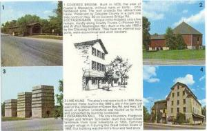 Scenes Ad Card for Bart's Restaurant, Columbia Rd, Cedarburg, Wisconsin, Chrome
