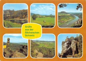 Gruesse aus der Saechsischen Schweiz, Moench Lilienstein Barbarine Papstdorf