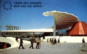 Montreal, Canada Exposition, 1967 expo67, Postcard Post Card 1968