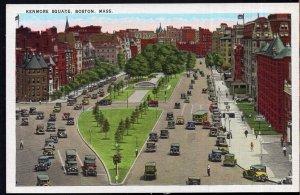 Massachusetts BOSTON Street View of Kenmore Square older cars - LINEN