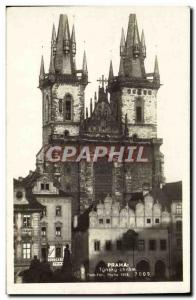 Postcard Old Praha Tynsky Chram
