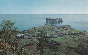 Panoramic View Of The Rock From Mount Ste-Anne, Perce, Quebec, Canada, 1940-1...