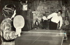 Ping Pong Table Tennis Action Scene Keukenhof Netherlands Cancel RPPC