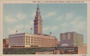 Ohio Cleveland New U S Post Office And Terminal Tower