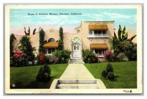 Vintage 1910's Postcard Home of Adolphe Menjou Sherman California
