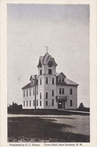 Town Hall, New Durham, New Hampshire, 1910-1920s