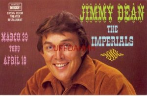JIMMY DEAN and The IMPERIALS at CIRCUS ROOM THEATER, Ascuaga's NUGGET, RENO, NV