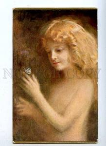 188034 Nude Girl w/ BUTTERFLY by Tade STYKA Vintage LAPINA
