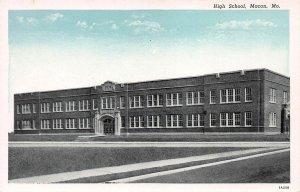 High School, Macon, Missouri, Early Postcard, Unused