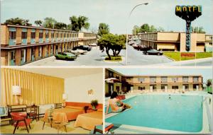 Motel Metropole Montreal QC Quebec Pool Interior Unused Vintage Postcard D70