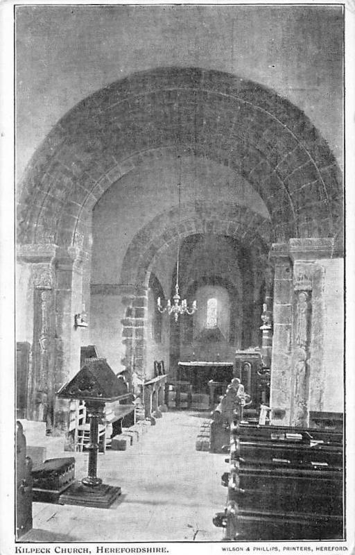 England Herefordshire, Kilpeck Church Interior