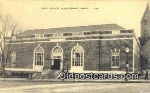 Middleboro, Mass USA Post Office Unused