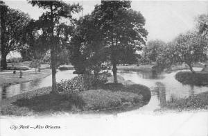 New Orleans Louisiana~City Park~Trees Along Lake~c1905 B&W Postcard