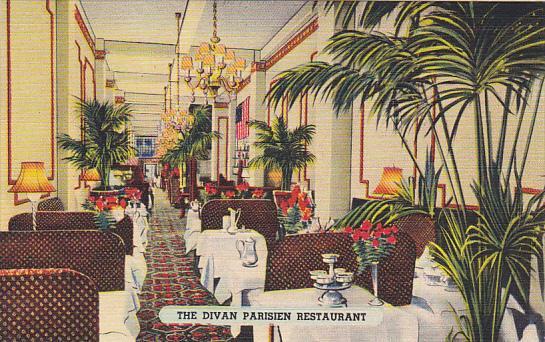 New York City Dining Room Divan Parisien Restaurant