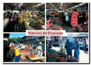 Modern Postcard Marche Papeete