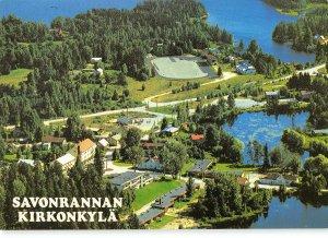 B110038 Finland Savonrannan Kirkonkyla General view Lake Hotel Panorama
