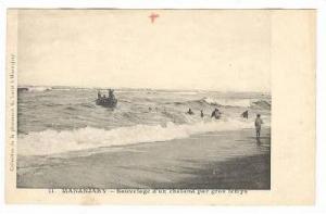 Sauvetage d'Un Chaland Par Gros Temps, Mananjary, Madagascar, Africa, 1900-1910s