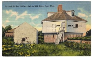 Kittery Point, Maine, Ruins of Old Fort McClary, Built in 1630