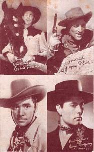 Eddie Dean, Gregory, George Montgomery, Russell Hayden Western Actor Mutoscop...