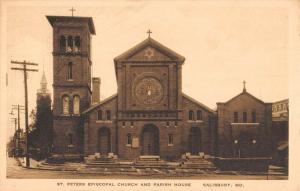 Salisbury Maryland St Peters Episcopal Church Antique Postcard K81251