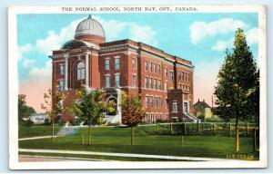 The Normal School North Bay Ontario Canada Vintage Postcard D91