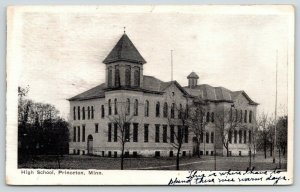 Princeton Minnesota~High School~X Where Grace Has To Spend Warm Days~1908 B&W