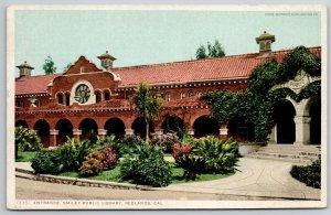 Redlands CA Detroit Publishing #13351~Clay Tile Roof~Smiley Public Library 1907