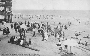 Bathing Beach 1909 Long Beach California undivided postcard 2510