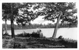 Brethren Michigan~Lake Eleanor~Trees Along Shore~1940s RPPC Real Photo Postcard