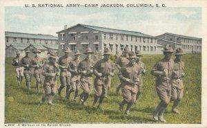 COLUMBIA , South Carolina , 1910s ; Workout on parade Ground, CAMP JACKSON