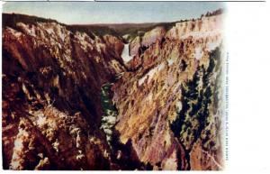 Haynes Blue Letter Series, Canyon from Artists Point, Yellowstone National Park