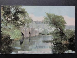 Cumbria: Newby Bridge & River Leven showing the now SWAN HOTEL - Old Postcard