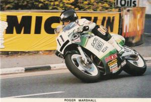 Robert Marshall TT Races Motorbike Superbike Isle Of Man Limited EdnPostcard