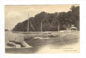 Parc de Versailles, FRANCE, 1890s-1905   La Flottille de Canal