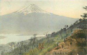 C-1910 Fuji Misaka Japan Hand Colored Postcard 7687