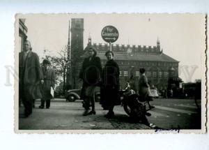 190878 FINLAND car motorcycle Vintage Gevaert postcard
