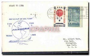 Letter USA 1st flight Lima Miami ti FAM5 Panagra May 3, 1960