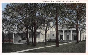 St. Mary's Hospital, Columbus, Wisconsin, Early Postcard, Unused