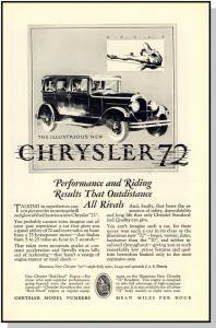 Awesome 1927 Chrysler 72 Car/Auto/Automobile Ad, Beautiful!