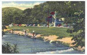 Trout Fisherman's Paradise, Roaring River State Park, Missouri, 30-40s