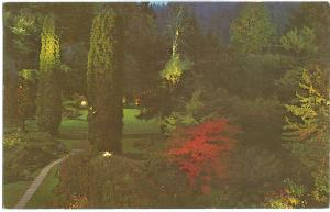 Canada, Sunken Gardens, Illuminated, The Butchart Gardens, Victoria, BC