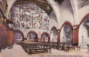 Switzerland Lugano Interno della chiesa Santa Maria degli Angioli
