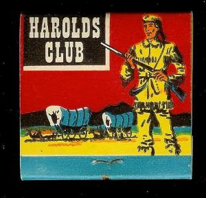 HAROLDS CLUB CASINO Reno 1950's Full Unstruck Matchbook