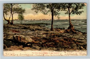 Crystal Beach Ont. Canada - Scenic Fort Erie Beach, Vintage c1907 Postcard