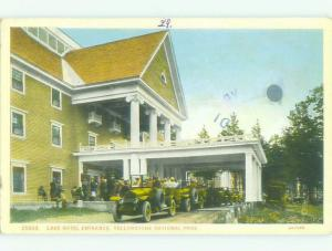 c1920 ENTRANCE TO LAKE HOTEL Yellowstone National Park Wyoming WY HQ4554