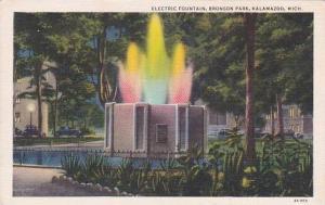Michigan Kalamazoo Electric Fountain Bronson Park