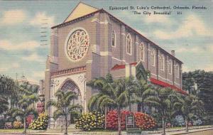 Florida Orlando Episcoppal Saint Lukes Cathedral The City Beautful 1950
