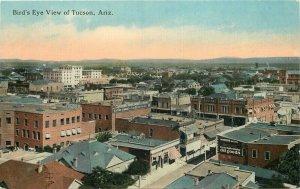Birdseye View Tucson Arizona C-1910 Postcard Teich 20-5237