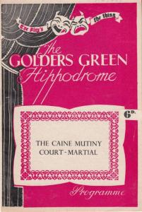 The Caine Mutiny Court Martial Military Golders Green London Theatre Programme