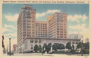 WILMINGTON , Delaware, 30-40s , Rodney Square,  Public Library & Trust Building